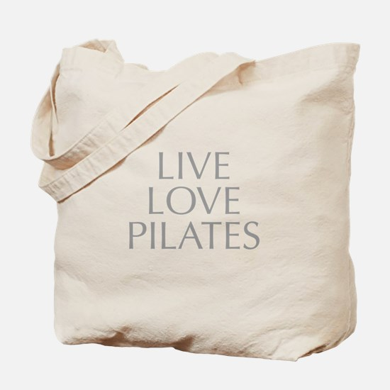 LIVE-LOVE-pilates-OPT-GRAY Tote Bag
