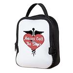 Nurses Call The Shots Neoprene Lunch Bag