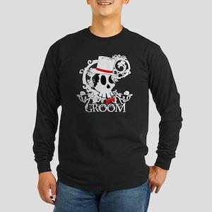 Skull Groom Long Sleeve Dark T-Shirt