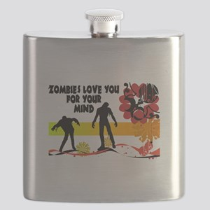 Zombies Love You For Your Mind Flask