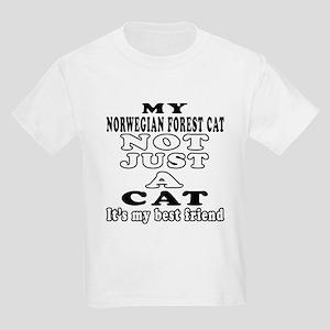 Norwegian Forest Cat Designs Kids Light T-Shirt