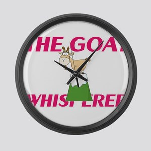 The Goat Whisperer Large Wall Clock