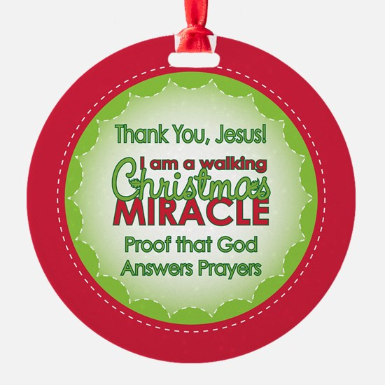 Christmas Miracle Ornament (Round)