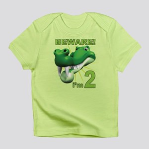 Beware! I'm 2 Alligator Infant T-Shirt