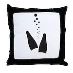 Fins & Bubbles Throw Pillow