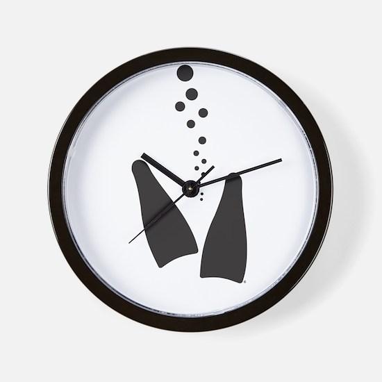 Fins & Bubbles Wall Clock