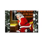 'Santa knelt' Rectangle Magnet