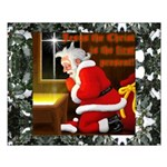 'Santa knelt' Small Poster