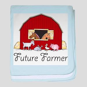 Future Farmer Barnyard Baby Blanket