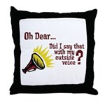 My Outside Voice Throw Pillow