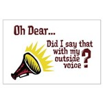 My Outside Voice Large Poster