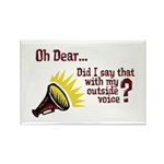 My Outside Voice Rectangle Magnet (100 pack)