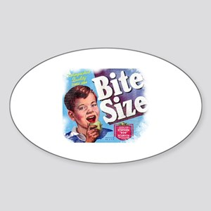 Bite Size Oval Sticker