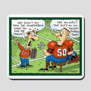 Fantasy Football Cartoon Mousepad