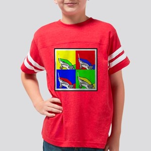 PoolShark4DrkFab2 Youth Football Shirt