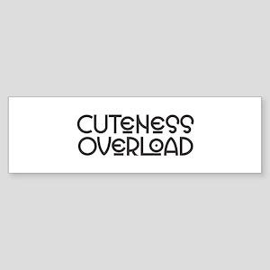 Cuteness Overload - Black Bumper Sticker