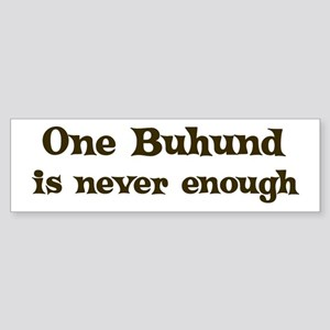 One Buhund Bumper Sticker