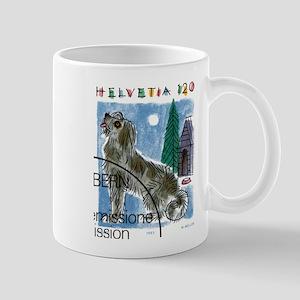 Vintage 1993 Switzerland Dog Postage Stamp Mug