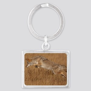 Coyote Flying Landscape Keychain
