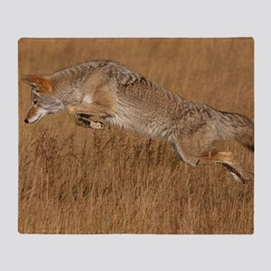 Coyote Flying Throw Blanket