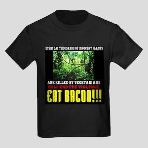 Vegetarian End Violence Eat Bacon T-Shirt
