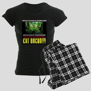 Vegetarian End Violence Eat Bacon Pajamas