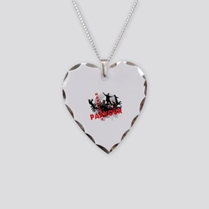 Hardcore Parkour Grunge City Necklace Heart Charm