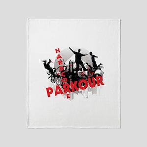 Hardcore Parkour Grunge City Throw Blanket