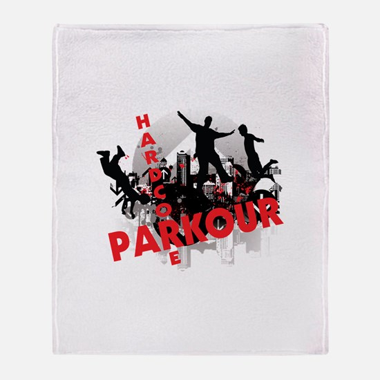 Hardcore Parkour Grunge City Throw Blanket