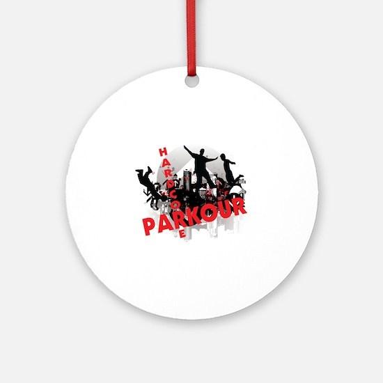 Hardcore Parkour Grunge City Ornament (Round)
