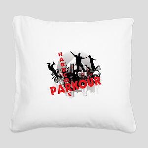 Hardcore Parkour Grunge City Square Canvas Pillow