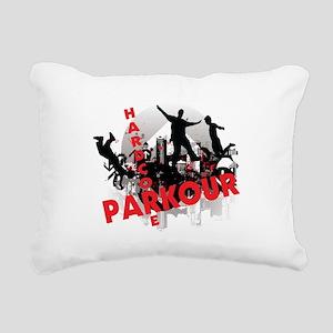 Hardcore Parkour Grunge City Rectangular Canvas Pi