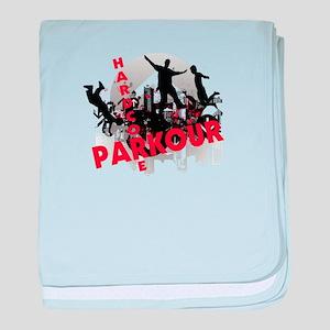 Hardcore Parkour Grunge City baby blanket