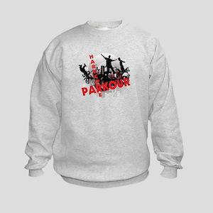 Hardcore Parkour Grunge City Kids Sweatshirt