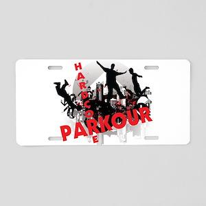 Hardcore Parkour Grunge City Aluminum License Plat