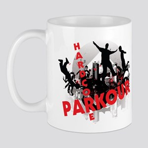 Hardcore Parkour Grunge City Mug