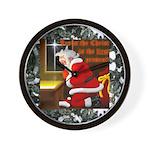 'Santa knelt' Wall Clock