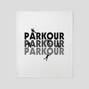 Parkour Free Running Throw Blanket