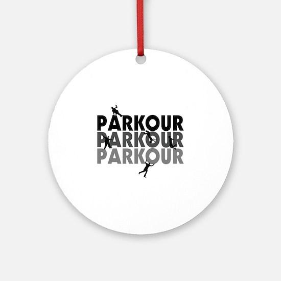 Parkour Free Running Ornament (Round)