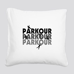 Parkour Free Running Square Canvas Pillow