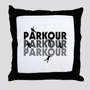 Parkour Free Running Throw Pillow