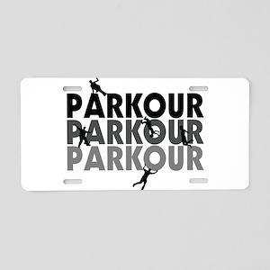 Parkour Free Running Aluminum License Plate