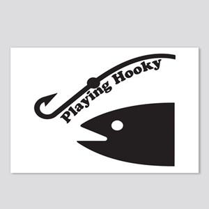 Playing Hooky To Fish Postcards (Package of 8)