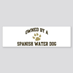 Spanish Water Dog: Owned Bumper Sticker