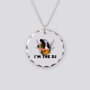 I'm The DJ Rockin The Turntables Necklace Circle C