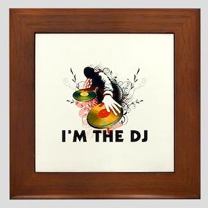 I'm The DJ Rockin The Turntables Framed Tile