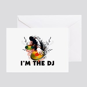 I'm The DJ Rockin The Turntables Greeting Card