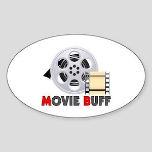 I'm A Movie Buff Sticker (Oval)