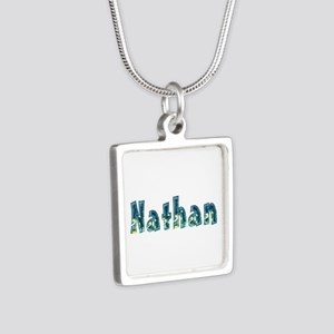Nathan Under Sea Silver Square Necklace