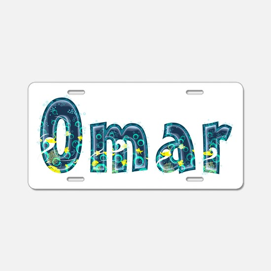 Omar Under Sea Aluminum License Plate